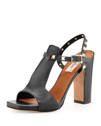 Rockstud T-Strap 90mm Sandals