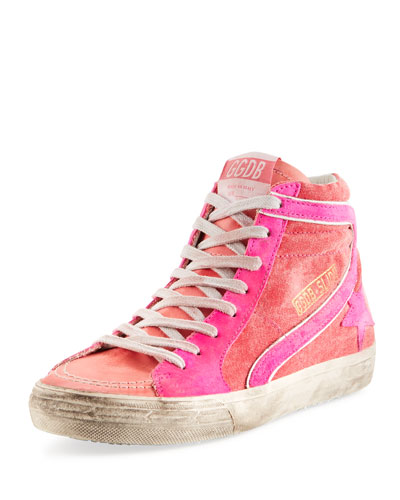 Slide Canvas High-Top Sneakers