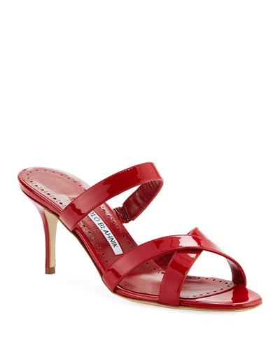 Traer 70mm Patent Slide Sandals