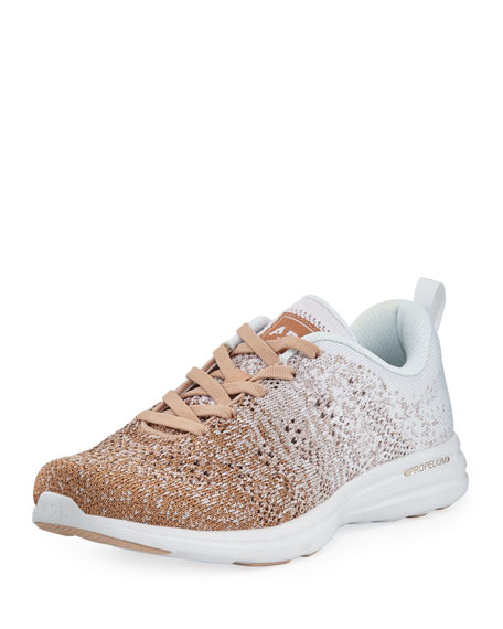 Apl Athletic Propulsion Labs TECHLOOM PRO OMBRE METALLIC KNIT SNEAKERS