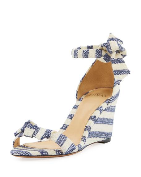 dc38c1afd2 Alexandre Birman Clarita Striped Wedge Sandals