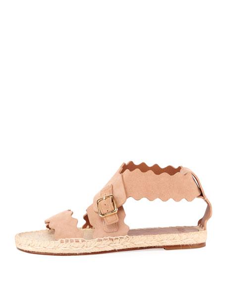 Lauren Flat Suede Wrap Sandals