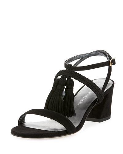 Tasselmania Suede City Sandals  Black