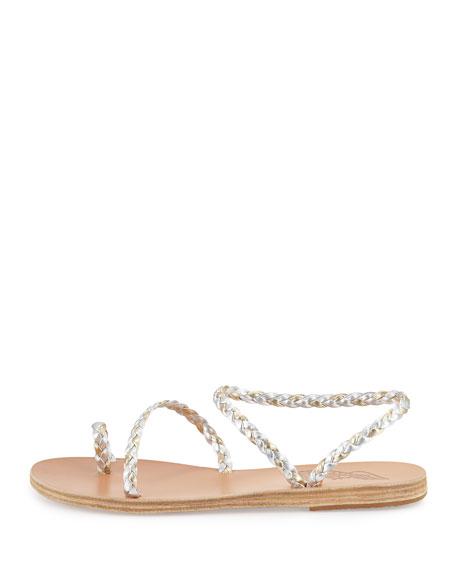 Eleftheria Braided Toe-Ring Sandals