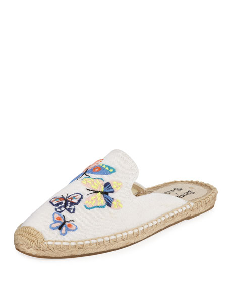 Soludos Canvases BUTTERFLIES FLAT ESPADRILLE MULES