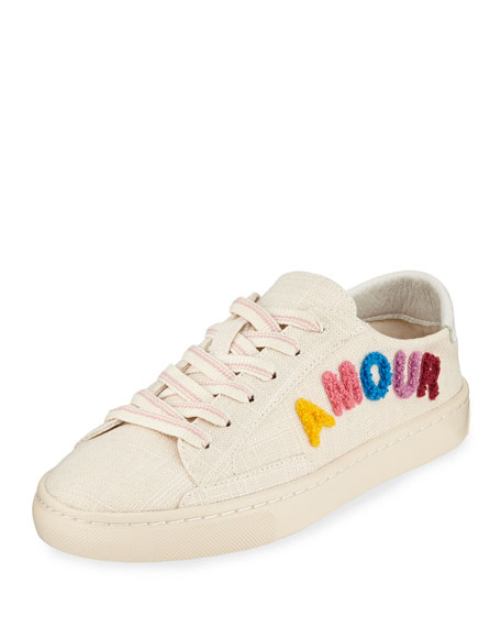 3576d5405a95 Soludos Amour Ibiza Embroidered Linen Sneakers