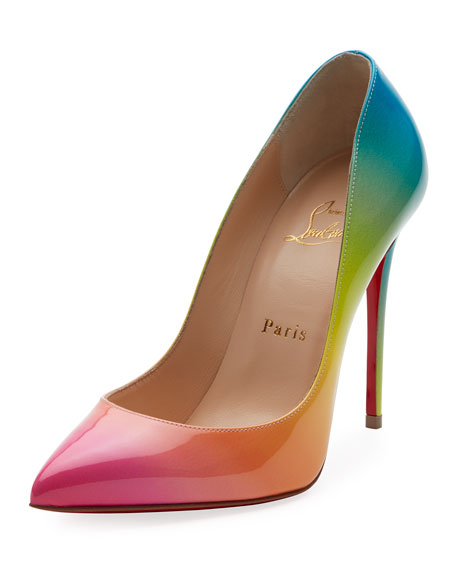 55d6839e5f0e Christian Louboutin Pigalle Follies 100mm Ombre Patent Red Sole Pumps