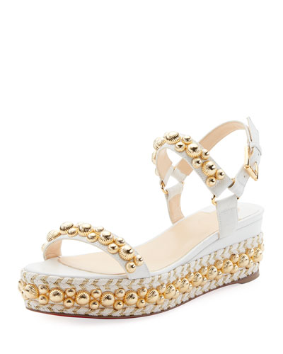 f58be211cd4 Christian Louboutin Rondaclou Stud Platform Red Sole Sandals