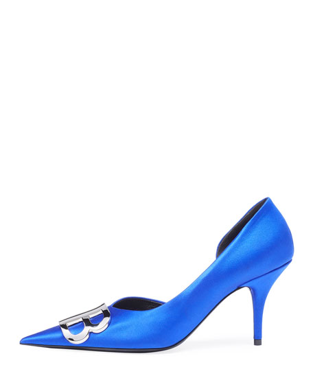 Talon Satin d'Orsay Pumps