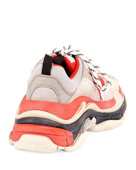 Triple S Fluo Mesh Trainer Sneakers