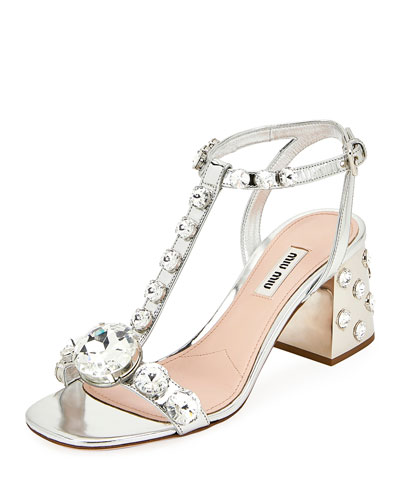 Rhinestone Embellished Sandals