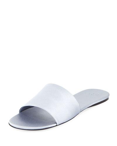 Ellen Satin One-Band Slide Sandals