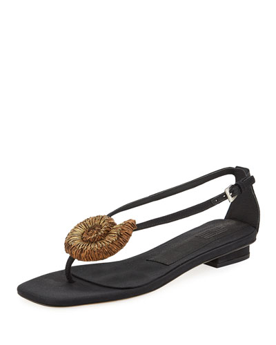 Vivara Embellished Thong Flat Sandals