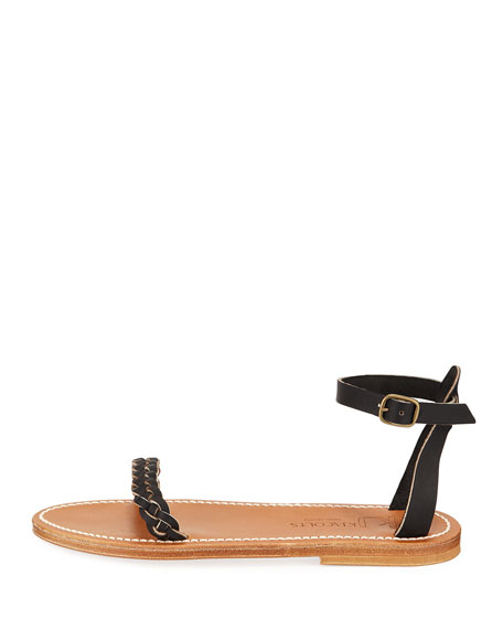 Mathis Braided Leather Sandals