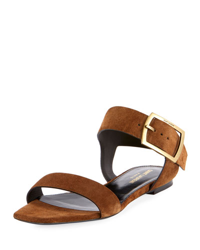Jodie Suede Buckle Sandals