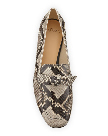 Becky Python Bow Loafers