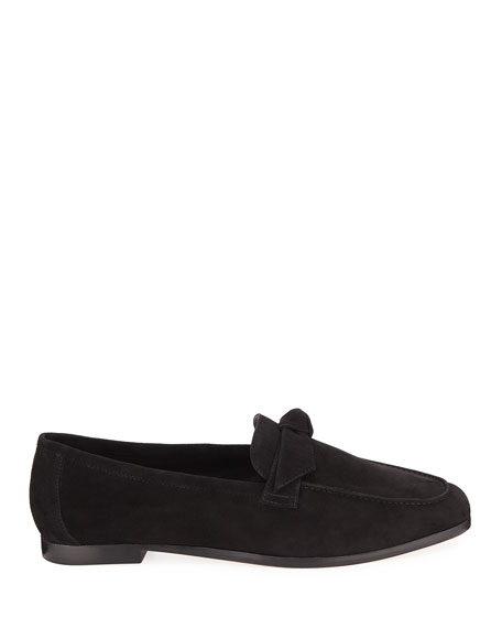 Becky Flat Suede Bow Loafers