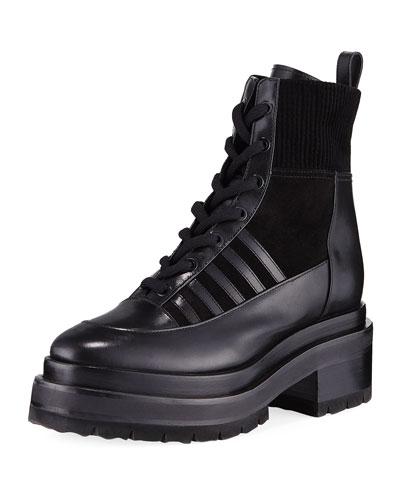 Nevada Lug-Sole Ankle Boots