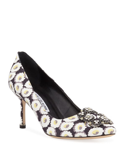 9ceab0aa9b5f1 Hangisi Crystal-Buckle Velvet 70mm Pumps Quick Look. Manolo Blahnik