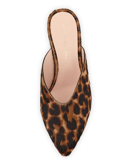 Juno Leopard Kitten-Heel Mule Slide