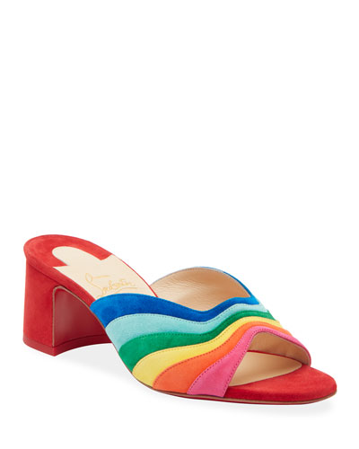 87983066c468 Degradouce Rainbow Red Sole Slide Sandals Quick Look. Christian Louboutin
