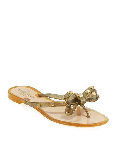 db412990a37b Rockstud Jelly Bow Thong Sandals Quick Look. Valentino Garavani