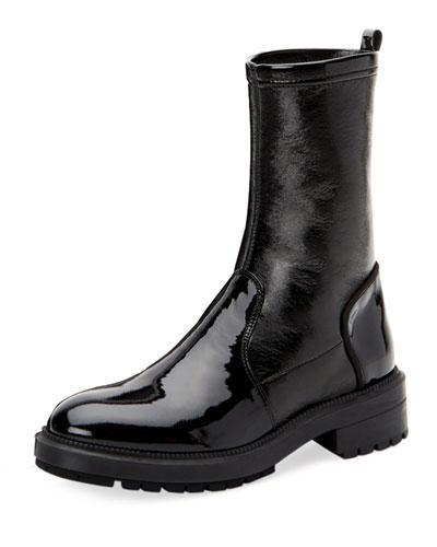 Leoda Weatherproof Patent Ankle Boots