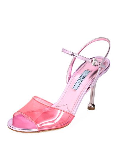 Strappy Plexi Sandals