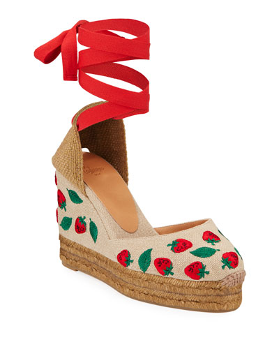 Carina Strawberry Espadrilles