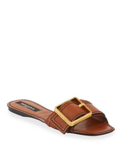 Luggage Flat Slide Sandals