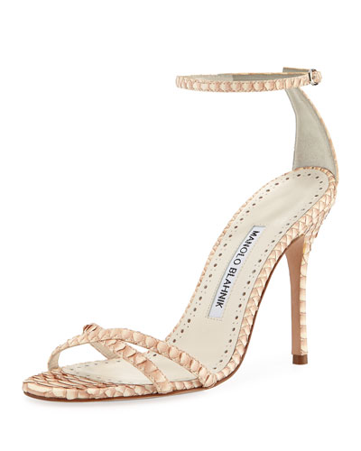 6f1cd4dbe24d02 Paloma Snakeskin Sandals Quick Look. Manolo Blahnik