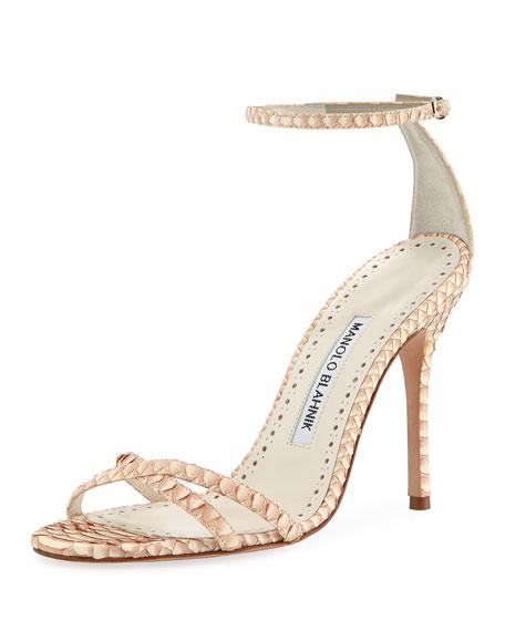 2385b410e57a Manolo Blahnik Paloma Snakeskin Sandals