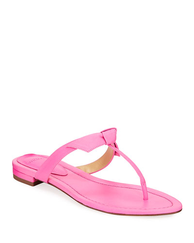 Clarita Naked Leather Thong Sandals