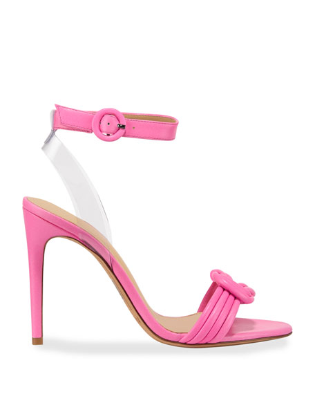 Vicky Vinyl and Leather Sandals