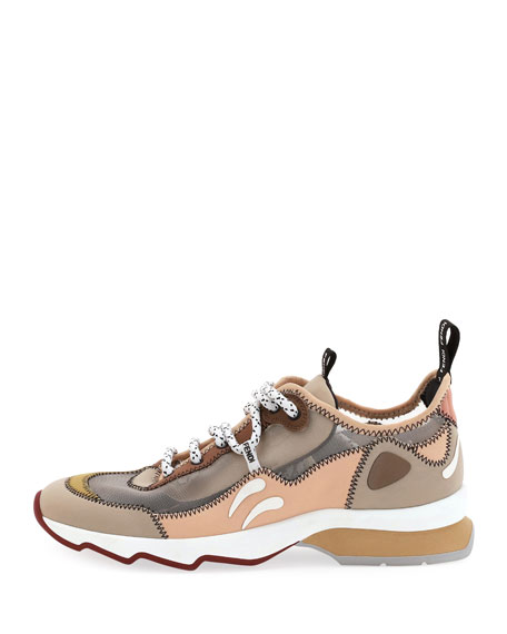 Freedom Lace-Up Mesh Sneakers