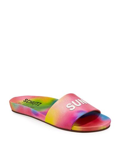 Sunkissed Leather Pool Slide Sandals