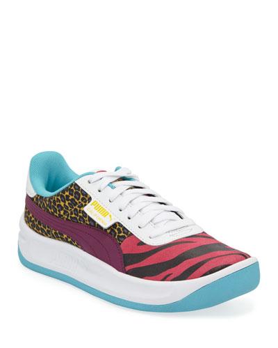 California Animal Leather Sneakers