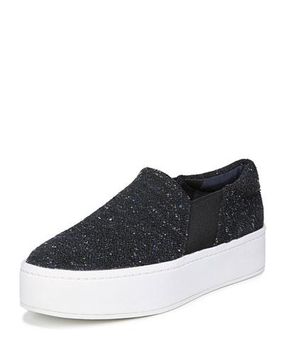 Warren Tweed Platform Skate Sneakers