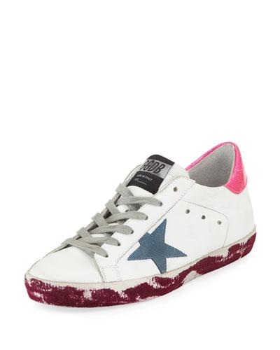 Superstar Paint-Leather Low-Top Platform Sneakers