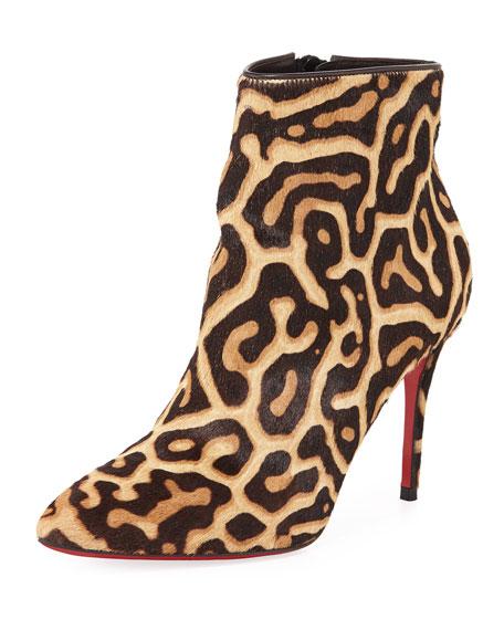 best service d2d0d ce9ce Eloise Leopard Red Sole Booties