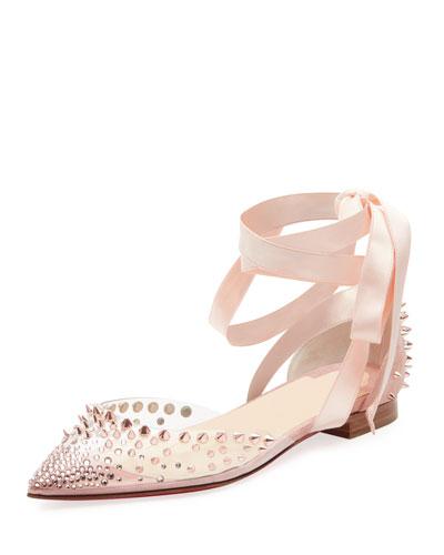 3ad52c2ce3cf Christian Louboutin Mechante Reine Red Sole Ballet Flats