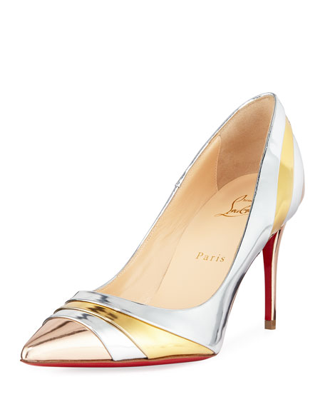 Christian Louboutin Eklectica Crackled Red Sole Pumps