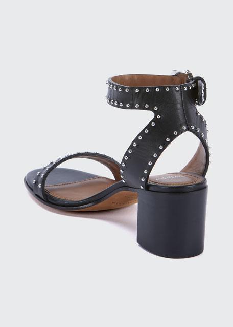 Elegant Studded Leather Sandals