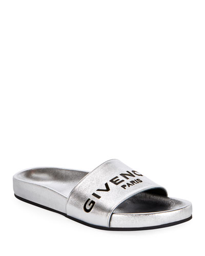 Cruise Flat Metallic Pool Slide Sandals