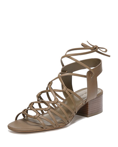 Beaumont Knotted Leather Gladiator Sandals