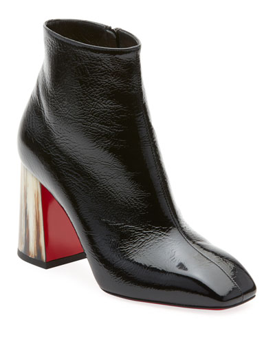 Hilconico Vintage Shiny Red Sole Booties