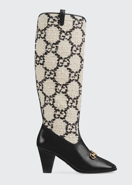 Zumi GG Tweed Knee Boots