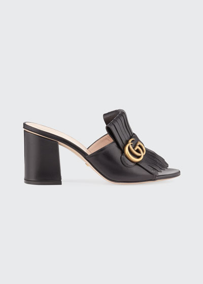a4fbda7e6 Marmont Block-Heel Kiltie Sandals Quick Look. Gucci