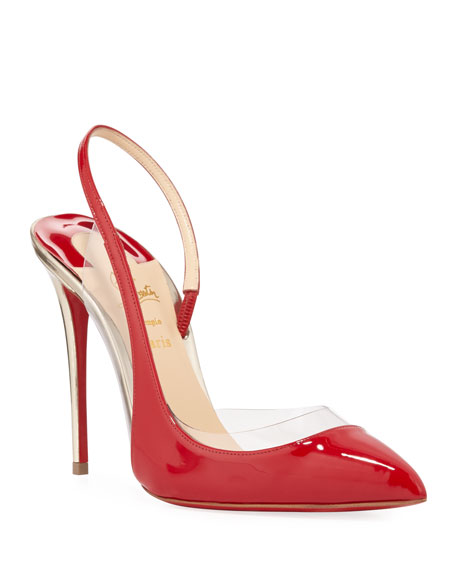 Optic Sexy Asymmetric Red Sole Pumps