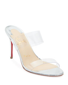 947e7efaa95b Just Nothing Illusion Red Sole Mules